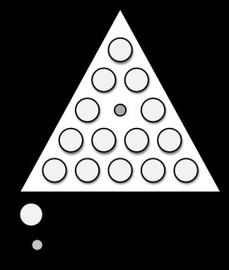 cracker barrel triangle game setup
